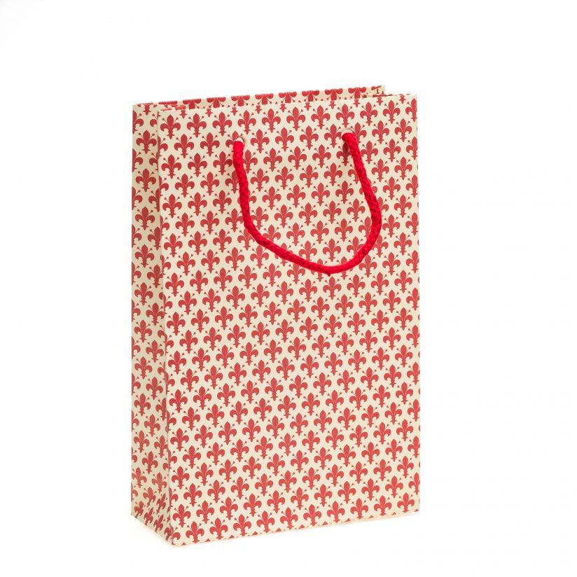 Shopper Rosso Linea Giglio