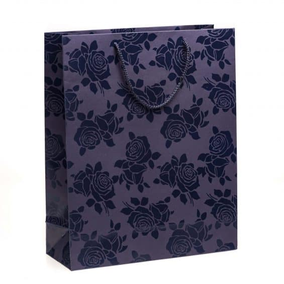 Shopper carta Grande Linea Rosa Smalto blu