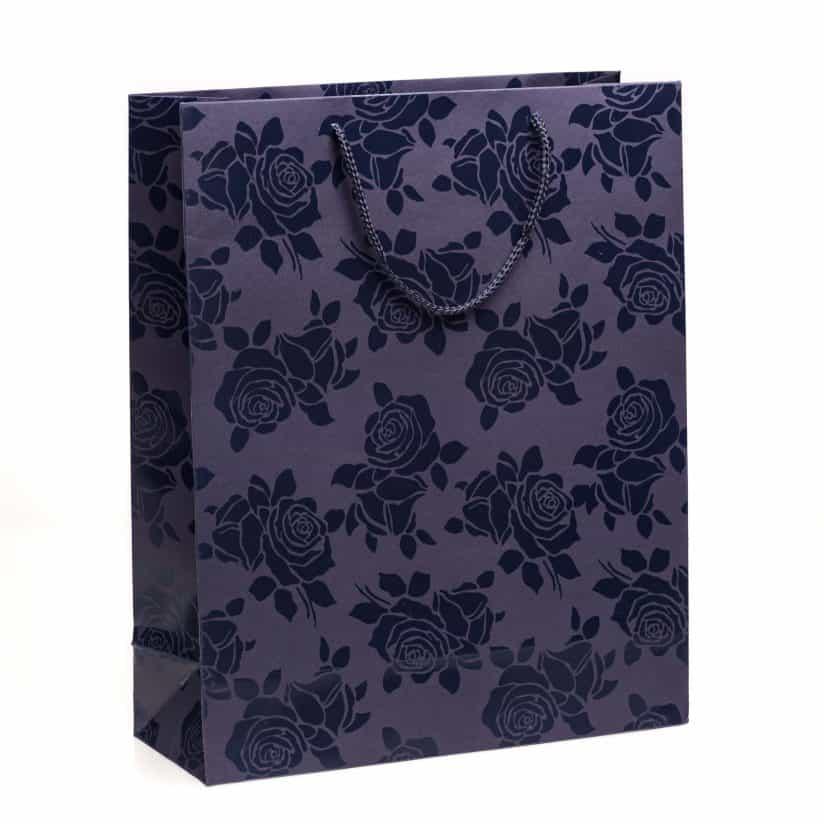 Shopper carta Grande Linea Rosa Smalto blu