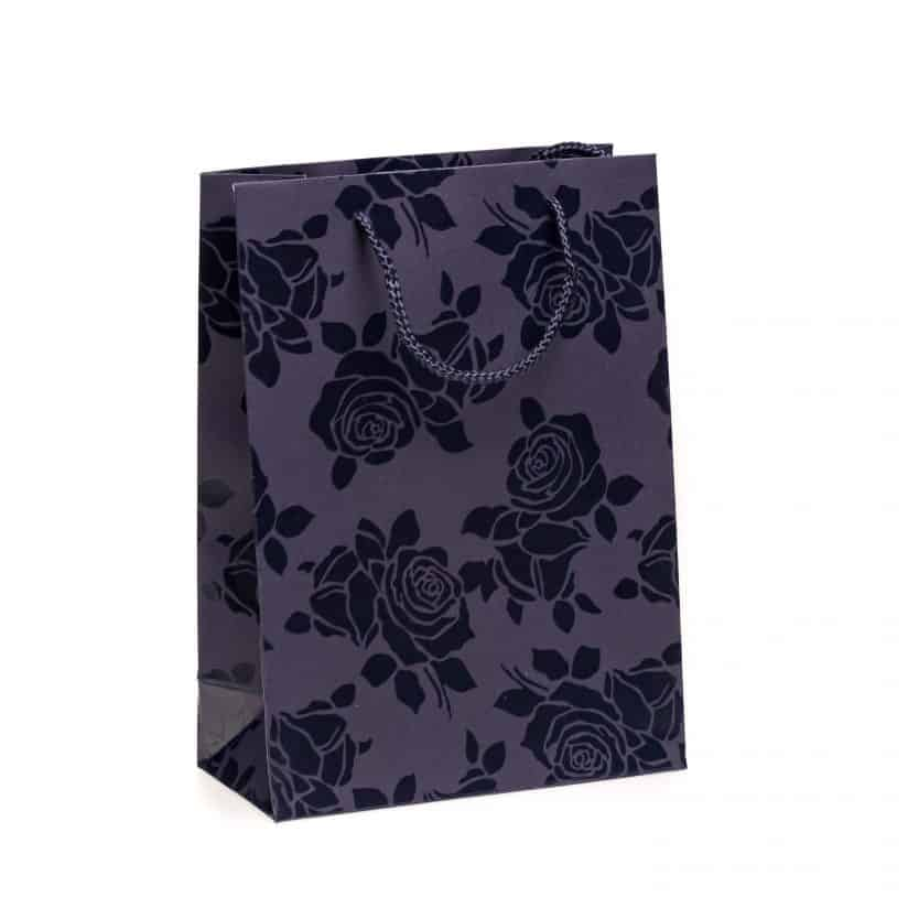 Shopper carta Piccolo Linea Rosa Smalto blu