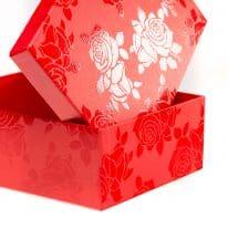 Set Scatole Rettangolari Linea Rosa Smalto rosso dettaglio