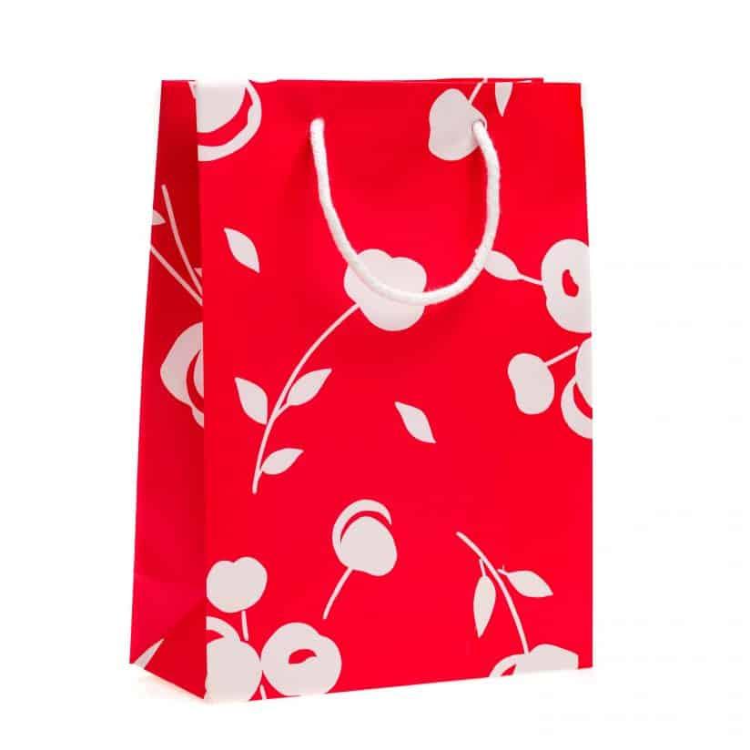 shopper carta piccolo grande Linea Tessuto Cherry Shopper Rosso