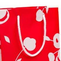 Linea Tessuto Cherry Shopper Rosso dettaglio