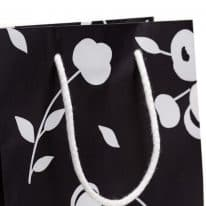 Linea Tessuto Cherry Shopper Nero dettaglio
