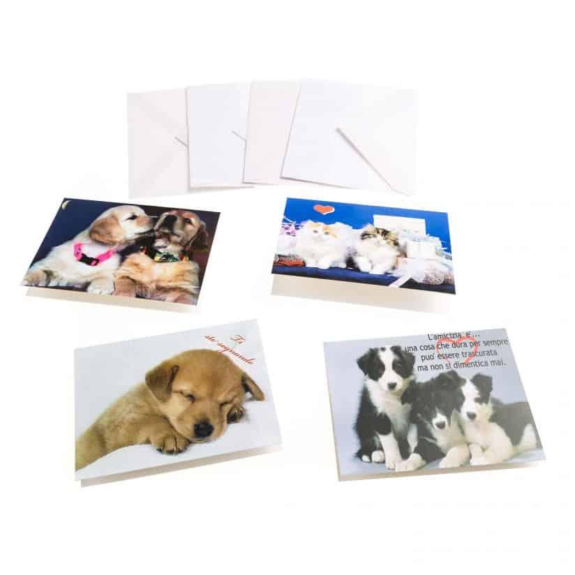 Biglietti di auguri con cuccioli