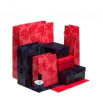 collezione loris of florence scatole e carta regalo shopper bags linea rosa smalto