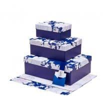 collezione loris of florence scatole e carta regalo shopper bags linea rosa vetro blu